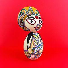 Part Saraswati Devi. Art inspired by Kolkata's Baghbazar and Singhi Park pandals. Saraswati Devi, Durga Puja, Custom Dolls, Kolkata, Ganesha, Indian Art, Etsy Seller, Art Prints, Park