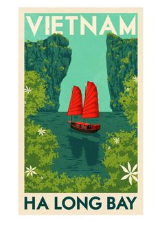 Rui Ricardo - Ha Long Bay :: Folio Boutique - Buy Limited-Edition Prints by Folio Artists and Illustrators