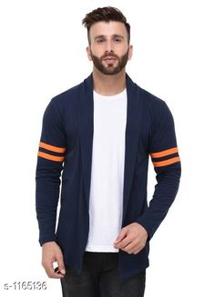 Cardigan Stylish Cotton Cardigan  *Material* Cotton  *Size* S - 38in, M - 40in, L - 42in, XL - 44in, XXL - 46 in  *Sleeves* Full Sleeve  *Type* 30in  *Fitting Type* Slim Fit  *Occasion* Casual  *Wash Care* Machine Wash. Wash with Similar color  *Sizes Available* S, M, L, XL, XXL *   Catalog Rating: ★4 (377)  Catalog Name: Full Sleeve Cotton Cardigan CatalogID_145277 C70-SC1401 Code: 243-1165136-