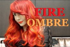 Fire Red Ombre Hair Color