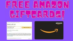 2 Ways To Get Free Amazon Giftcards & Codes | Legit And Easy! Earn More Money, Way To Make Money, Make Money Online, Free Gift Cards, Free Gifts, Card Balance, 2 Way, Making Ideas, How To Apply