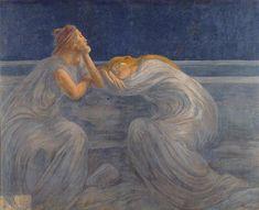 """Gaetano Previati, """"Night"""" 1909"""