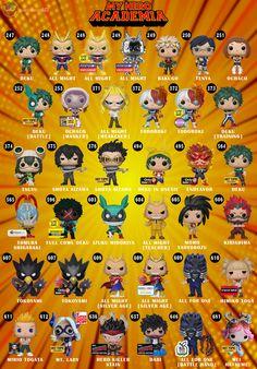 My Hero Academia Pop Guide My Hero Academia Merchandise, Anime Merchandise, My Hero Academia Episodes, My Hero Academia Memes, Hero Academia Characters, My Hero Academia Manga, Pop Vinyl Figures, Anime Pop Figures, Funko Pop List