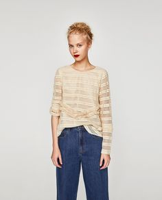 Image 1 of FRINGED TOP from Zara