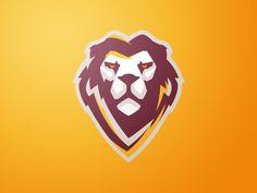 Lion by brandbooth ™ soccer logo, football team logos, lion icon, lions tea Gfx Design, Game Logo Design, Football Team Logos, Soccer Logo, Monogram Logo, Lion Icon, Lions Team, Esports Logo, Lion Logo