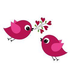 Verliefde vogeltjes