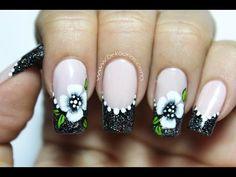 Decoración de uñas flores en pinceladas para principiantes | DEKO UÑAS | Moda en tus uñas