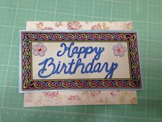 Ironing fabric to cards then using calligraphy