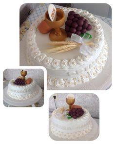 """15 curtidas, 2 comentários - Casarão Bolos (@casarao_bolos) no Instagram: """"Bolo Primeira Comunhão!!! #confeitaria #cake #bolo #marshmallow #primeiracomunhao"""""""