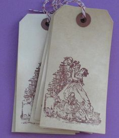 Christmas Tree With family Gift Tags by Judyscrafts on Etsy