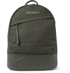 WANT Les Essentiels de la Vie Kastrup Leather-Trimmed Tweed Backpack | MR PORTER