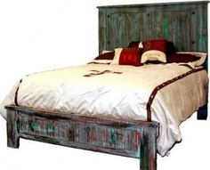 You Want Quality Western Furniture? We have it! | King Painted Reclaimed Look | Rustic Furniture | Great Western Furniture Co.