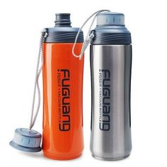 420ml double wall stainless steel vacuum water bottle,0.42L vacuum sports water bottle.Keep warm and cold,Double caps design.-in Water Bottles from Home & Garden on Aliexpress.com   Alibaba Group