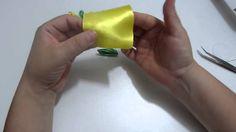 como hacer flores dobles en cinta para el cabello paso a paso
