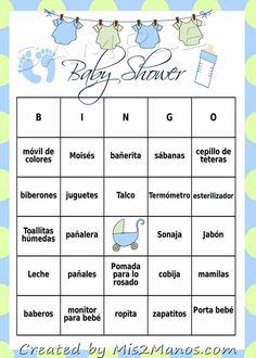 Baby Shower Bingo Game Blue & Green Clothes by Una parte standard signifiant los Bingo Baby Shower, Juegos Baby Shower Niño, Easy Baby Shower Games, Baby Shower Wording, Baby Bingo, Simple Baby Shower, Baby Shower Printables, Baby Shower Parties, Newborn Schedule