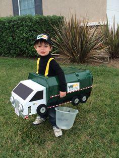 Kelan's Halloween Waste Management trash truck costume ...