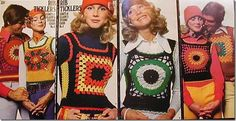 """Granny Square Pullover Vest ~ We called these something, can't remember what. They were part of the """"layered look""""."""