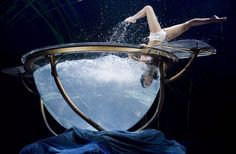 An artist performs during Cirque Du Soleil's new show 'AmaLuna', in Montreal, Wednesday, April 4, 2012. THE CANADIAN PRESS/Graham Hughes