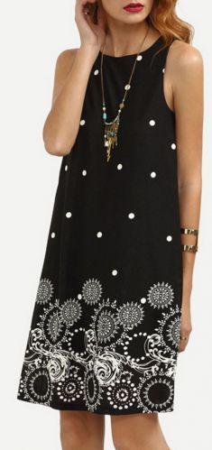 Rochie neagra cu imprimeu Casual, Dresses, Fashion, Vestidos, Moda, Fashion Styles, Dress, Fashion Illustrations, Gown