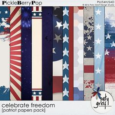 "Celebrate Freedom ""Patriot Papers"" by Paty Greif"