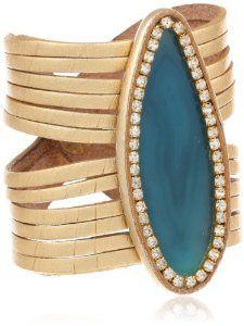 "Anna Pellissari Sea Isle Gold Cuff Bracelet, 7.5"""