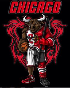 CHICAGO Basketball Logo Design, Chicago Bulls Basketball, Blackhawks Hockey, Basketball Art, Chicago Blackhawks, Chicago Bears Wallpaper, Bulls Wallpaper, Jordan Logo Wallpaper, Gorilla Tattoo