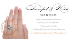Trumpet & Horn + Win an Antique Engagement Ring!
