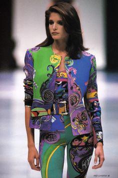 Stephanie Seymour / 1991 Gianni Versace Collezione Spring Summer / Lookbook