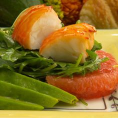 Spiny Lobster, Avocado and Grapefruit Salad recipe - from Chef Justin TImineri - Florida Department of Agriculture and Consumer Services Entree Recipes, Side Recipes, Chef Recipes, Salad Recipes, Drink Recipes, Lobster Dishes, Lobster Recipes, Seafood Recipes, Florida Spiny Lobster Recipe