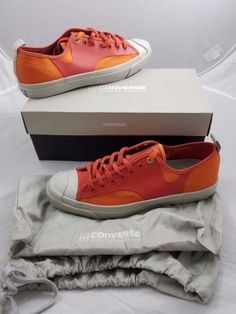 8925dfd2277b Converse Jack Purcell X Hancock Rally Ox Orange Jaff 148318C Mens 10 Womens  11.5  ConverseJackPurcell