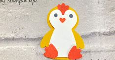 Diy And Crafts, Arts And Crafts, Paper Crafts, Easter Puns, Cards On The Table, Swing Card, Craft Sites, Easter Chick, Craft Punches