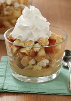This is the ultimate dessert recipe! You've got to try these Caramel Apple Pudding Parfaits—prepared with pudding cups, fresh apples, and caramel popcorn.