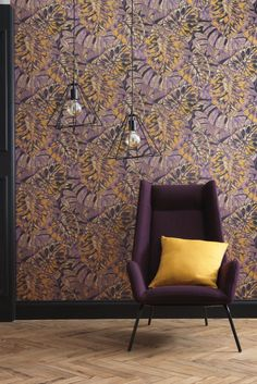 CASADECO PANAMA : By searching its inspirations in Panama, Casadeco revisits this colourful plant world to create an amazing collection. Tree Wallpaper Design, Tree Leaf Wallpaper, Neutral Wallpaper, Red Wallpaper, Blue Wallpapers, Wallpaper Ideas, Tropical Wallpaper, Colorful Wallpaper, Panama