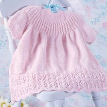 Pink Lotus Knit Dress Pattern for Baby