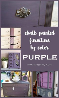 Chalk Painted Furniture by Color Series - Purple Chalk Paint | I never thought to paint something purple but these are fabulous! | www.mommyenvy.com