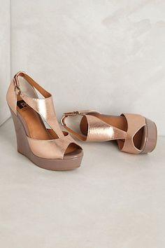 Diamond Wedges #anthropologie #weddingshoes