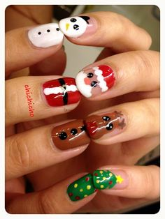 Video: Santa, Rudolph and Frosty Nails
