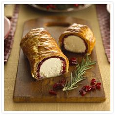 Baked Goat Cheese Log - I used fresh blackberries instead of dried cranberries