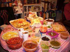 Oh ya! Chili Nachos, Crepe Bar, Dessert Nachos, Bar Drinks, Beverages, Potato Bar, Nacho Bar, Snow Cones, Breakfast Burritos