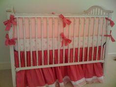 One of my 1st Hot Pink Nurseries. AFK Crib & Maddie Boo Bedding