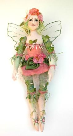 Donna Perry cloth OOAK fairy SOLD
