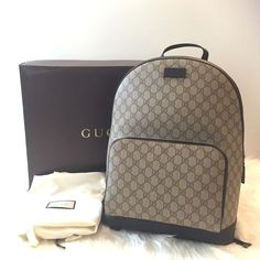 ed9e71aacb6ae Coffee Gucci backpack Brand new Gucci backpack. Authentic . Retails for  $1,250 + tax .
