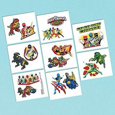 Amscan Power Rangers Dino Charge Temporary Tattoo, Multi * More info could be found at the image url. (This is an affiliate link) #NoveltyGagToys