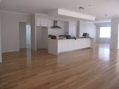 Floors & White Kitchen