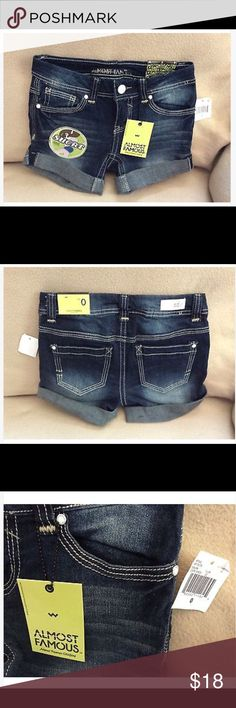 NEW Size 0 denim shorts Almost Famous Denim shorts size 0 Almost Famous. Almost Famous Shorts Jean Shorts