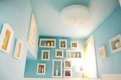 Replace Ugly Rental Ceiling Shades with paper lantern