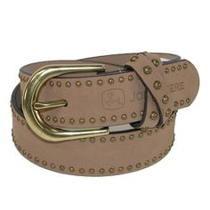 John Deere Girls Belt with Antiqued Nail head Accents