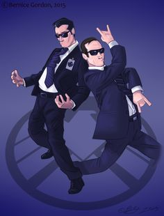 Agents of THE D.A.N.C.E. || Grant Ward, Phil Coulson || by Bernice Gordon || #fanart #humor