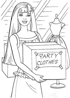 Free Kids Coloring Pages, Barbie Coloring Pages, Coloring Pages For Kids, Coloring Sheets, Coloring Books, Paris Wallpaper, Blue Bedrooms, Human Drawing, Rainbow Roses