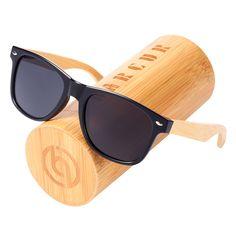 84cced3750f SeaDog Jack BARCUR Unisex Polarized Wood Plastic Black Frame Sunglasses -  UV400 BARCUR Spring Hinge